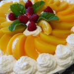 Tort makowy z brzoskwinia...