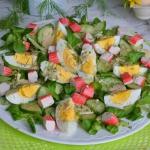 Salatka z roszponka, ogor...