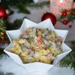Wigilijna kolorowa salatk...