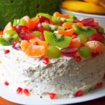 Tort owocowy straciatella