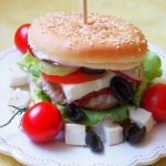 Burger po grecku