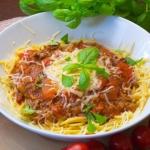 Spaghetti z mielona wolow...