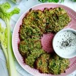 Zielone placki warzywne z...