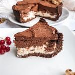 Mocno czekoladowa tarta...