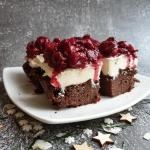Ciasto kakaowe z kremem...