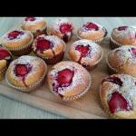 muffiny z truskawkami pus...