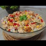 Makaronowa salatka gyros