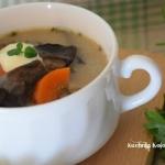 Zupa z młodych grzybów...