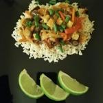 Ryż z wegańskim sosem...