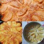 Placek serowy z jabłkami