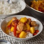 Kurczak z mango i kolorow...
