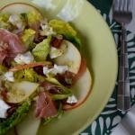 Salatka z kozim serem, sz...