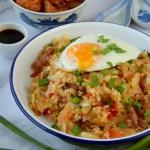 Smażony ryż z kimchi,...