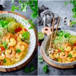 Krewetki z sosie tajskim
