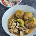 Tofu w kremowym sosie kop...