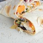 Burrito wrap na wiosne