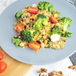 Warzywa w grzybowym sosie