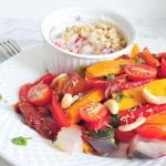 Duszone warzywa z sosem...