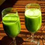Zielony sok z wyciskarki...
