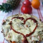 Pizza z papryka i pieczar...