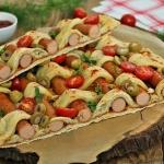 Pleciona pizza z parowka