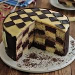 Tort szachownica z kremem...