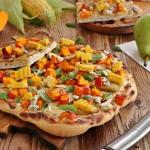 Pizza z gruszka dynia i k...