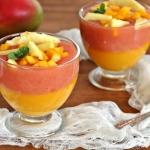 Herbaciany kisiel mango...